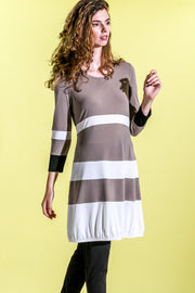 Tiered Dress - porcini-creme