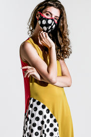 Khangura Fashion Mask. Custom-Made Cloth Face Mask. Mask Matching with Dress. Hand-Made Designer Mask, Made in USA.  High-End Jersey Knit Colorful and Artsy Mask. Hand-Crafted Matching Mask for Your Outfit. Matching Mask Looks for your Wardrobe.