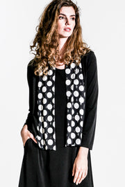 Shawl Collar Crop Jacket - black