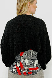 Bouclé Shrug Jacket - nero