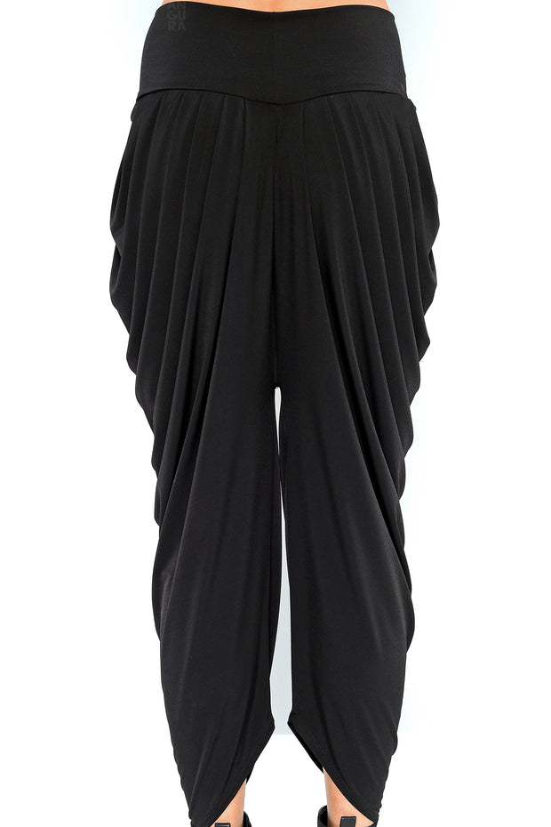 Funky Pleat Art Pants - black