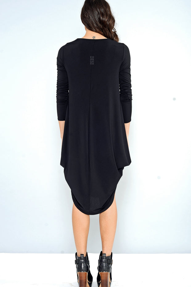 Cascade Dress - black