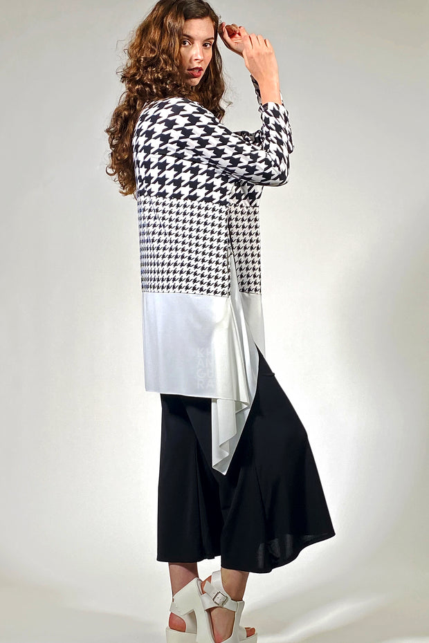 Artful Duster Coat - houndstooth