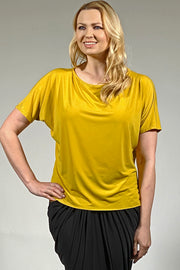 ladies summer top by Khangura. cruise wear top. modern and timeless blouse for older women. stylish spring women's wear, luxurious top. plus sizes 1X 2X 3X.