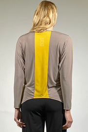 Stylish Stripe Top - porcini mustard