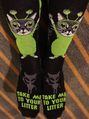 Take Me To Your Litter | Cat Designed Crew Socks