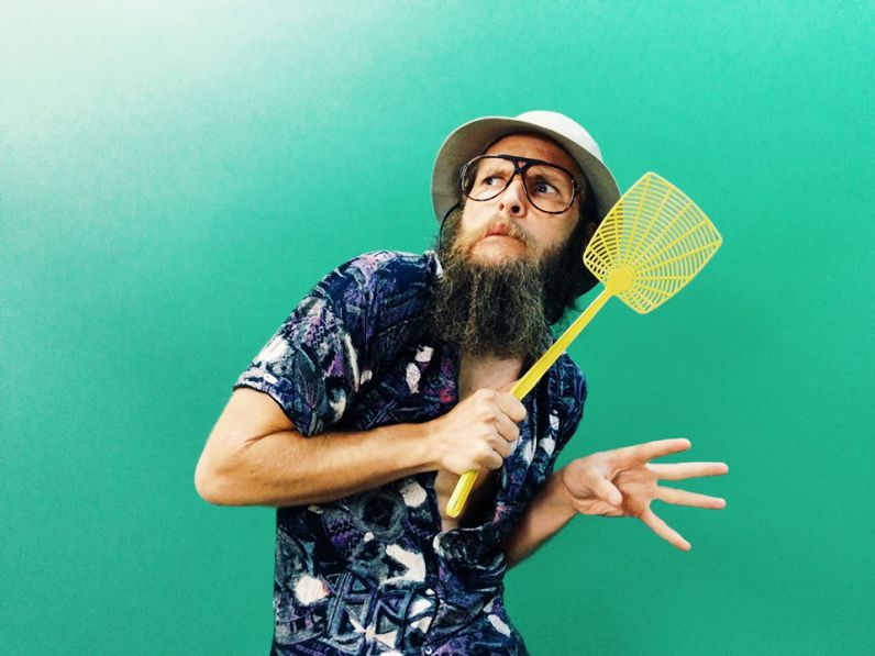 Johnny Depp Fly Swatter Beard