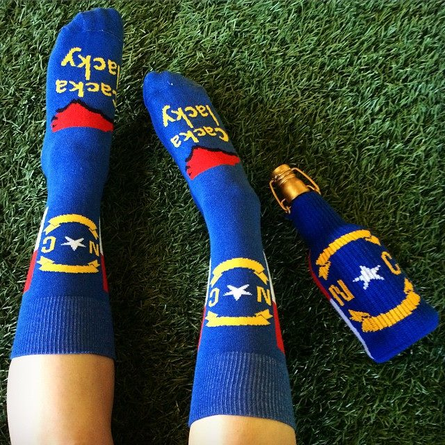North Carolina flag socks
