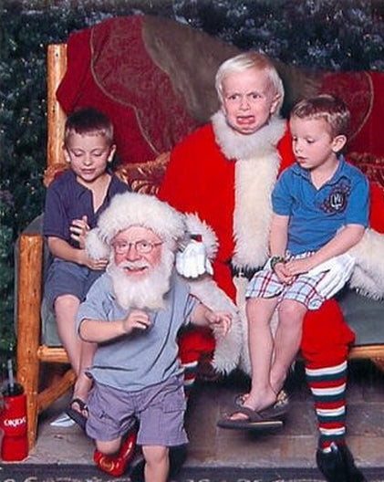 Weird christmas santa kid
