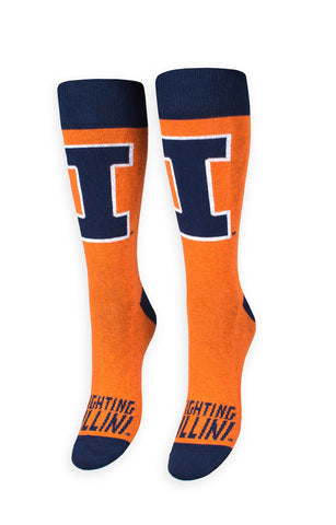 Illinois University Socks