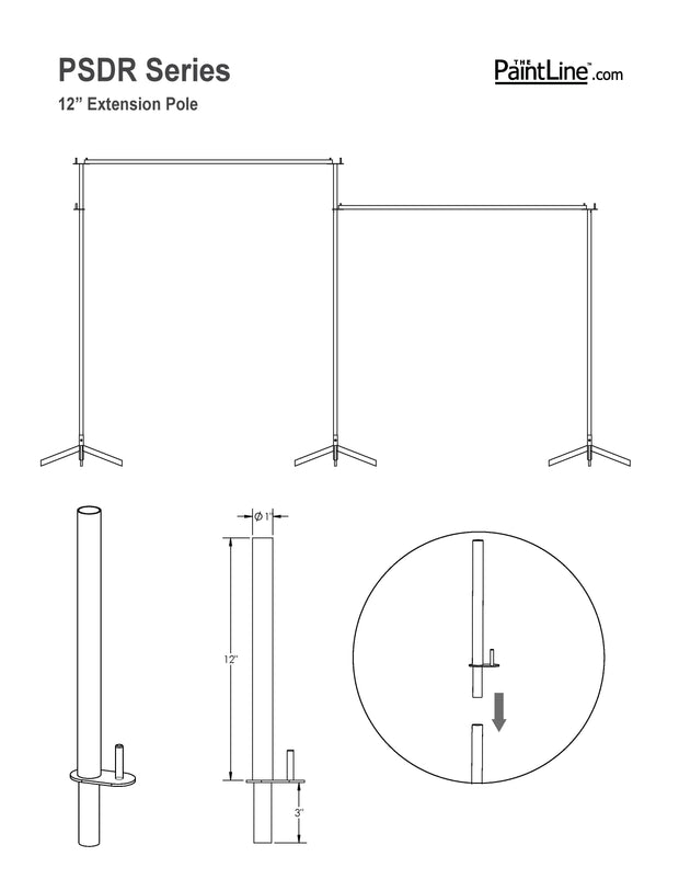 "PSDR 12"" Height Extenders (Set of 2)"