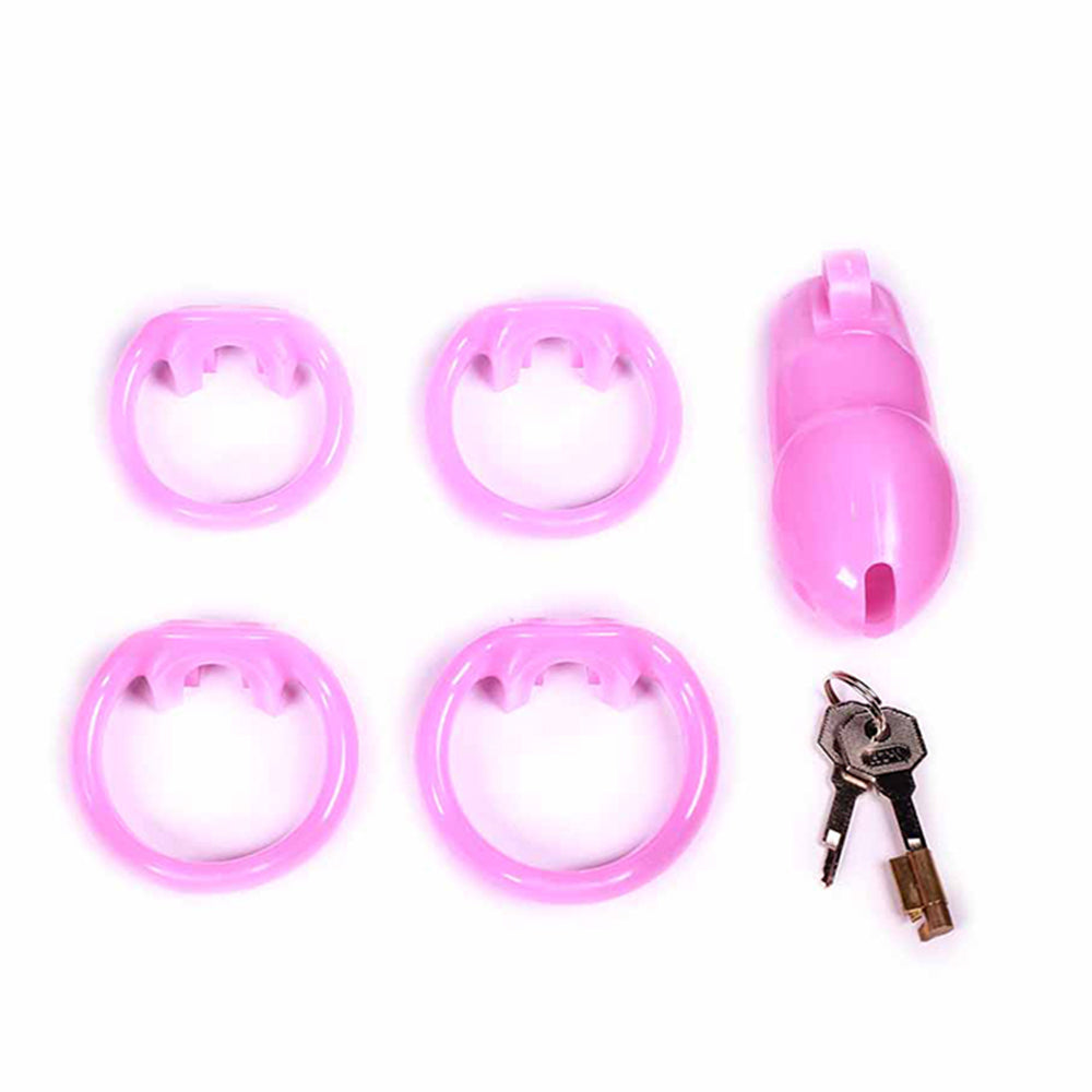 Sissy in Pink Resin Cage 1.89 and 2.35 inches long