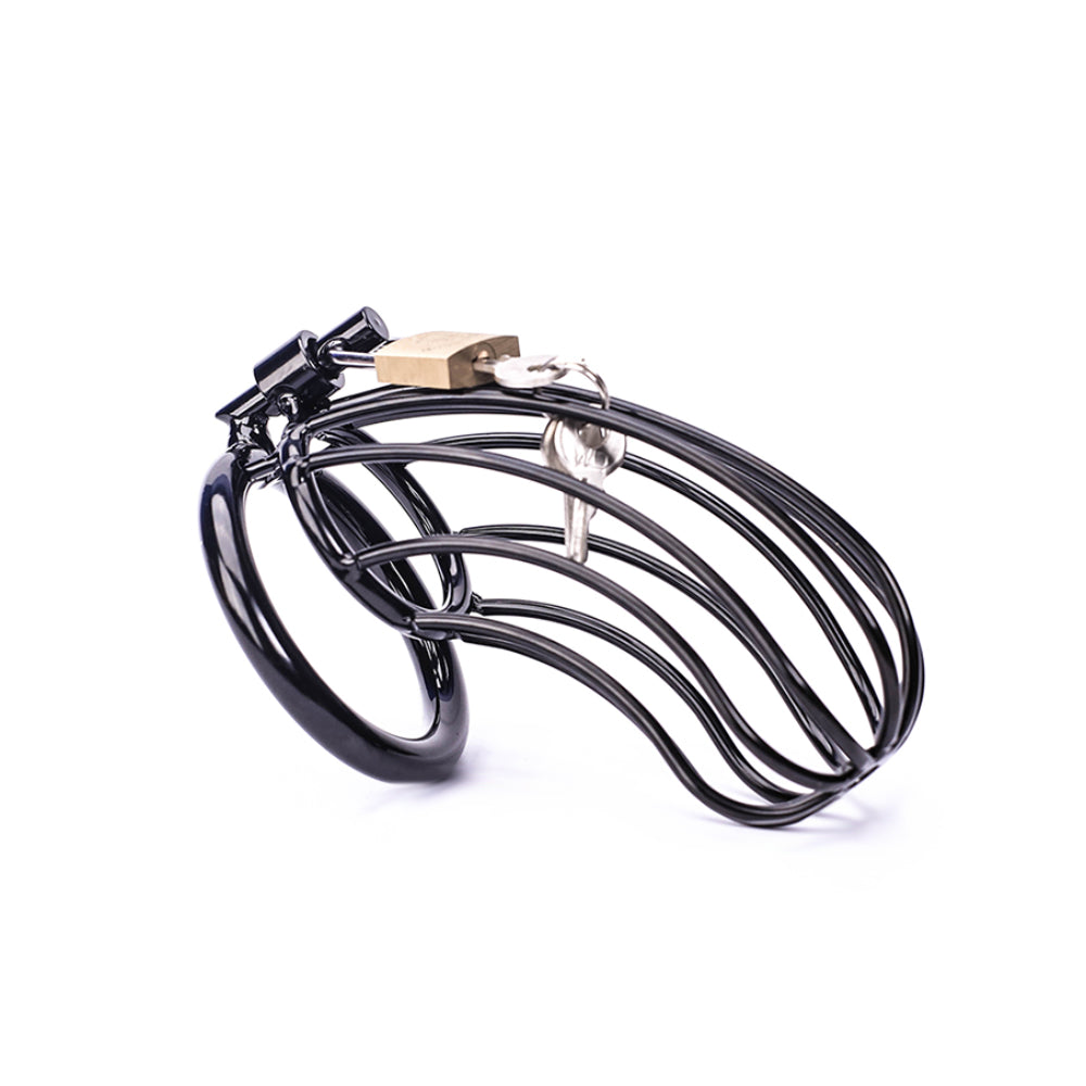 Eyes On Her Prize (Black) Metal Cock Cage 4.33 Inches Long