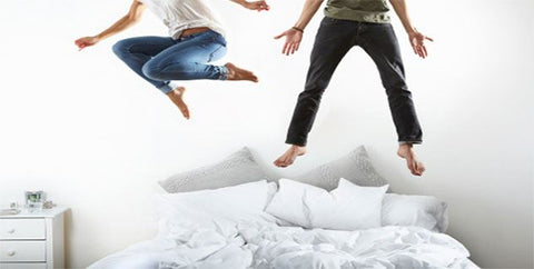 Jumping on a mattress is not such a good idea!