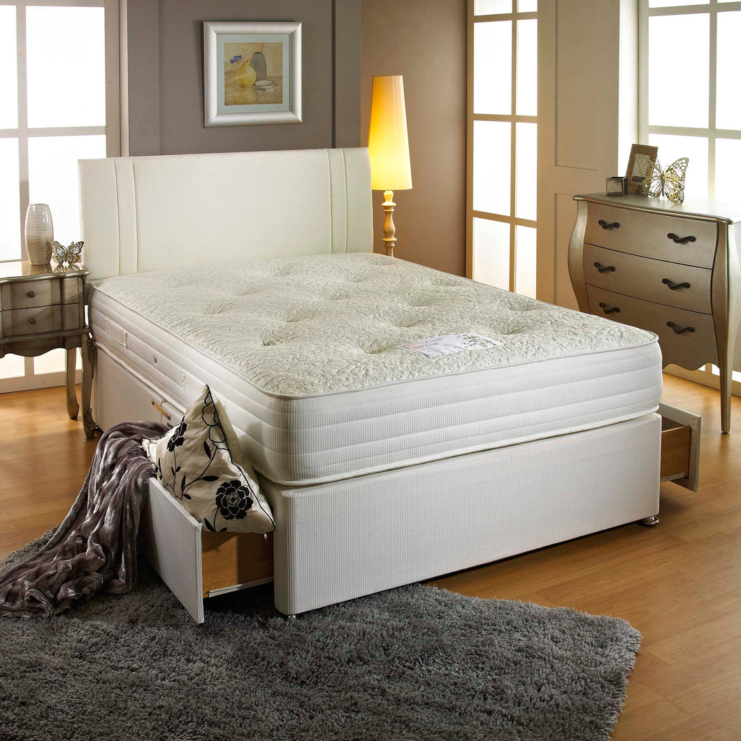 Bamboo 1000 Double Divan Bed - Sure Sleep Beds Doncaster