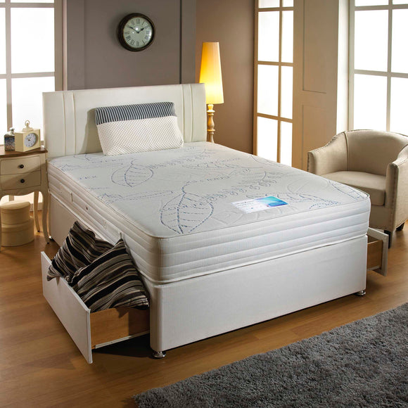 Cooltex Memory Latex King Size Divan Bed - Sure Sleep Beds Doncaster