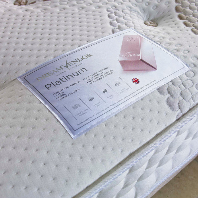 Platinum 2000 Luxury King Size Mattress - Sure Sleep Beds Doncaster