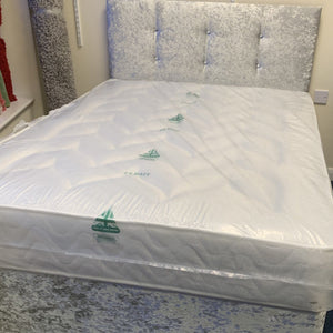 Sure Sleep Crushed Velvet Double Bed - Sure Sleep Beds Doncaster