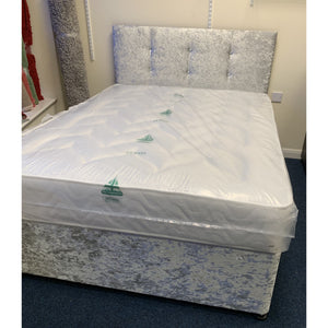 Sure Sleep Crushed Velvet King Size Bed - Sure Sleep Beds Doncaster