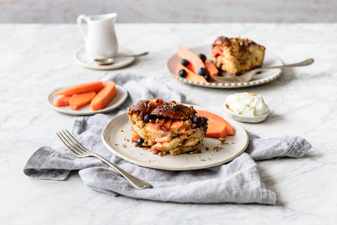 Papaya French Toast Bake