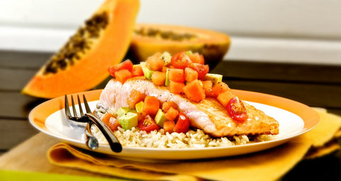 Salmon and Papaya Salsa