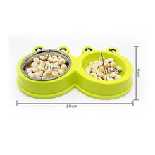 Load image into Gallery viewer, Double Stainless Steel Food Water Dog Bowls