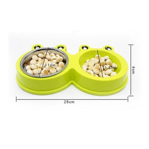 Double Stainless Steel Food Water Dog Bowls