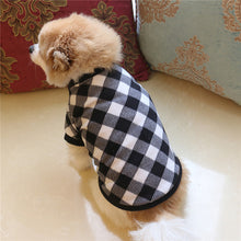 Load image into Gallery viewer, Black & White Dog Winter Jacket