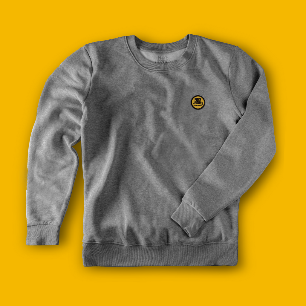 Embroidered Logo Grey Crew