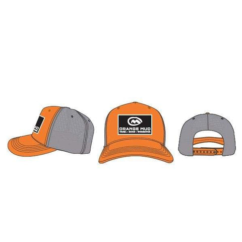 5 Panel Orange Trucker Hat - Accessories
