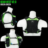 Gear Vest, 2L (1L Bladder, 2L total cargo): Ideal for running, biking, triathlon