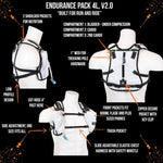 Endurance Pack 4L - V2.0 (2L Bladder 4L Cargo): Ideal For Running And Biking - $134.95 - White - V2.0 - Hydration