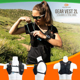 Gear Vest 2L (1L Bladder 2L Total Cargo): Ideal For Running Biking Triathlon - Packs