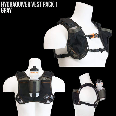 Hydraquiver Vest Pack 1 - 2.0: Ideal For Road And Trail Running And Triathlon. - Hydration