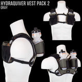 Hydraquiver Vest Pack 2 - 2.0: Ideal For Marathon Ironman And Ultrarunning. - Hydration