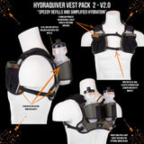Hydraquiver Vest Pack 2 - 2.0: Ideal For Marathon Ironman And Ultrarunning. - Vp2 - 2.0 - Gray With Gray Mesh - Hydration