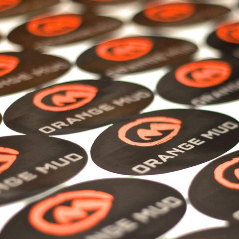 Orange Mud Logo Sticker - Accessories