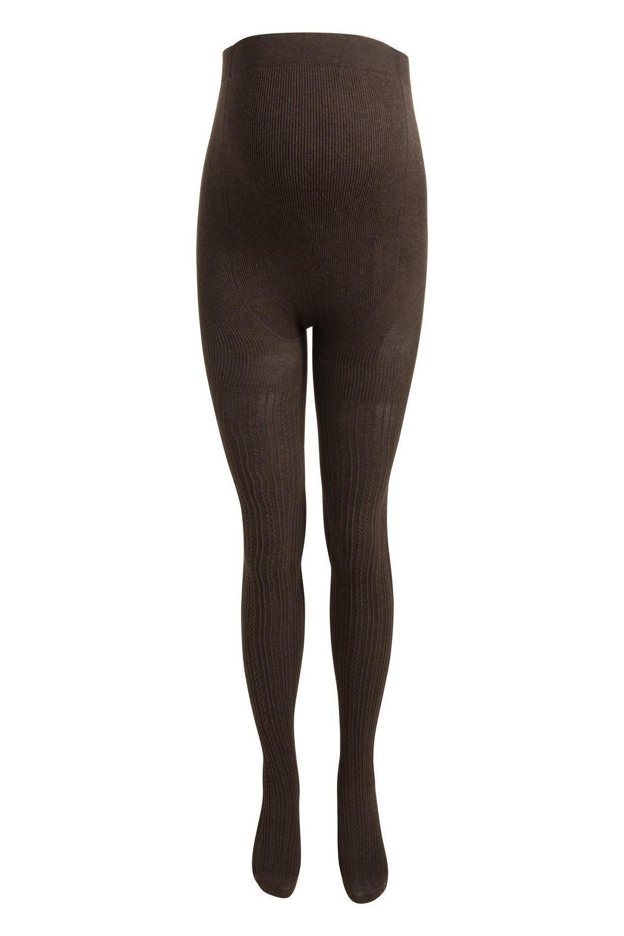 Noppies Cable Knit Maternity Tights - Dark Brown