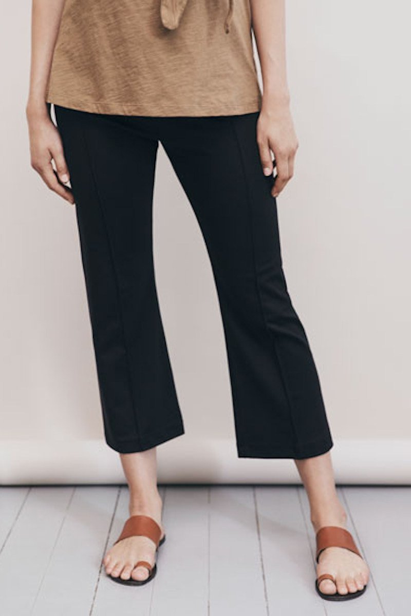 Boob Once On Never Off Kick Flare Pants - Black