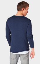 Tom Tailor L/S Crew w. Rolled Edges Red