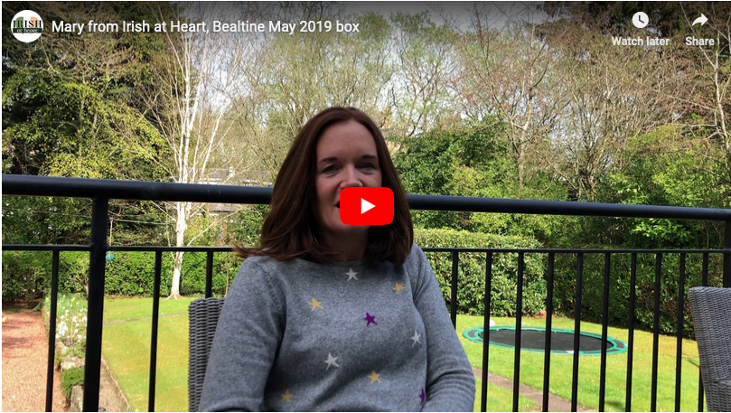 Mary gives a few clues on one of the items in May 2019 Bealtine box.