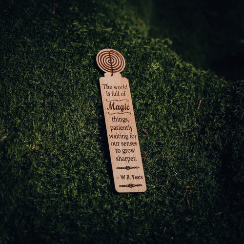 Wooden Engraved Sidhe Spiral Bookmark - Caulfield Country Boards