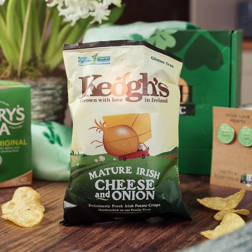 Local Irish Mature Cheddar Cheese & Onion Crisps/ Chips by Keogh's