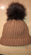 Load image into Gallery viewer, MeMiMade Faux Fur Ball Beanie