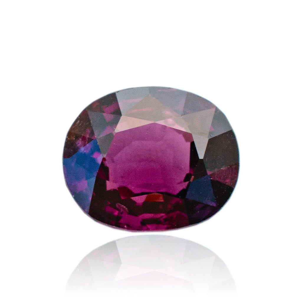 2.08 Carats Oval Purplish Red  Natural Spinel Gemstone 6.25 x 6.25 x 4.68 mm - Modern Gem Jewelry
