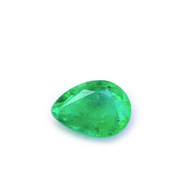 0.65 Carats Eye Catching Zambian Natural Emerald Pear Tear Drop Cut - Modern Gem Jewelry
