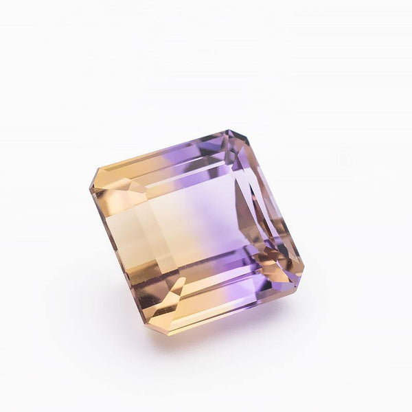 7.8 Carats Bi-Color Natural Ametrine Emerald Cut  Loose Gemstone - Modern Gem Jewelry