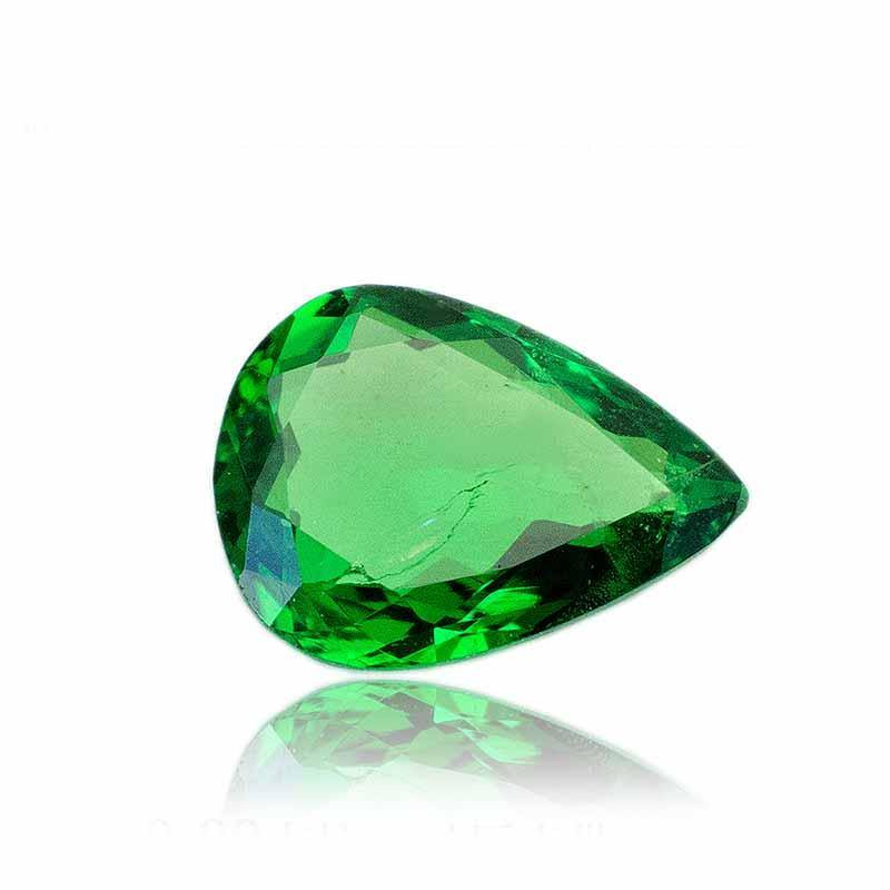 0.89 Carats Natural Tsavorite Garnet Gemstone Pear | 5.81 x 7..85 x 2.35mm - Modern Gem Jewelry