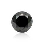 1.14 Carats Natural Black Diamond Round Cut