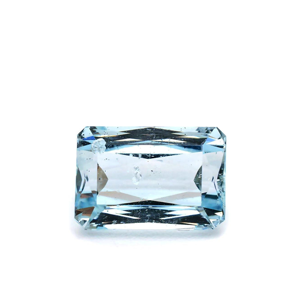 4.97 Carats Blue Natural Aquamarine Loose Gemstone Rectangular Cut - Modern Gem Jewelry